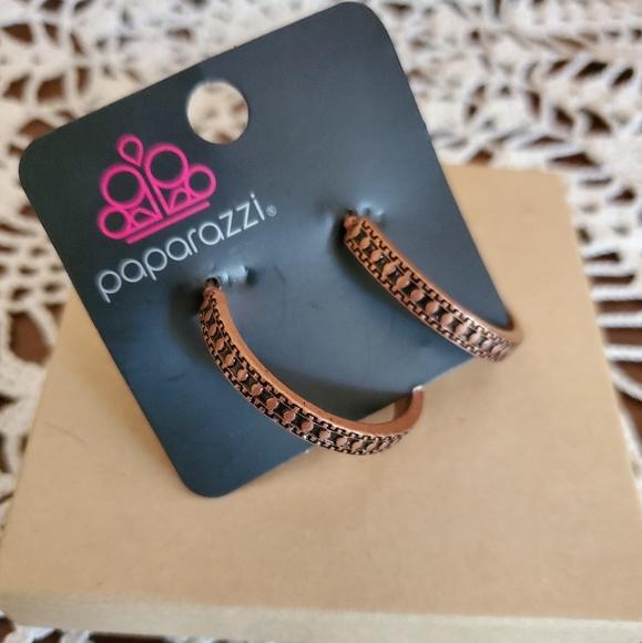 paparazzi Jewelry - Paparazzi Copper hoop earrings
